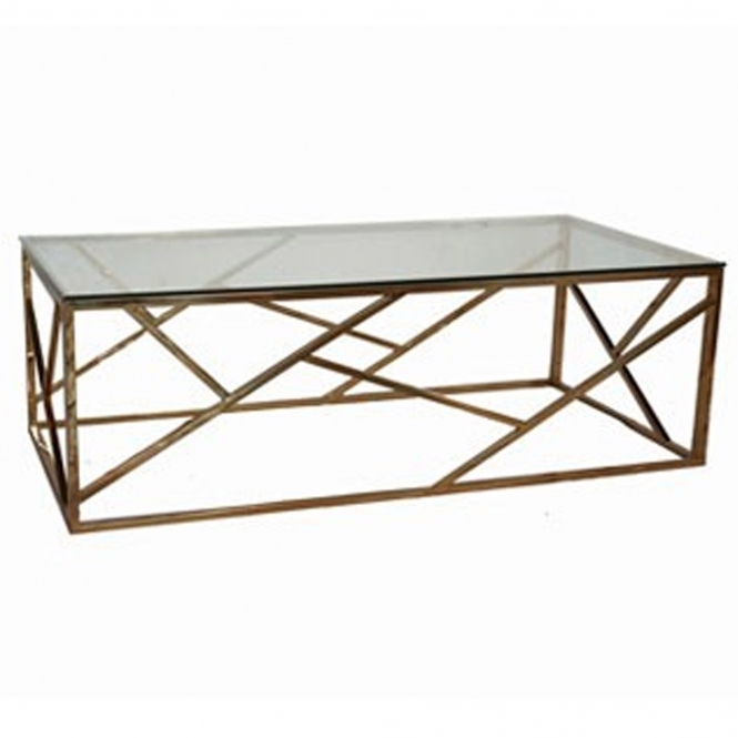 Rose Gold Allure Coffee Table