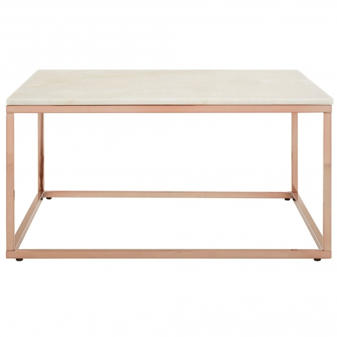 Rose Gold Allure Square Coffee Table