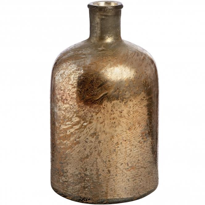 Rose Gold Large Glass Bottle Vase