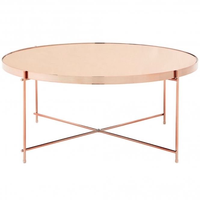 Rose Gold Round Allure Coffee Table