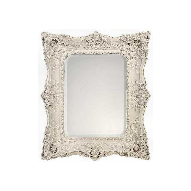 Rosetti Baroque Antique French Style White Bevelled Mirror