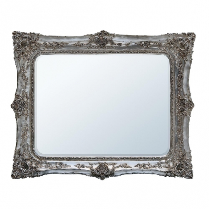 Rosetti Baroque Silver Antique French Style Mirror