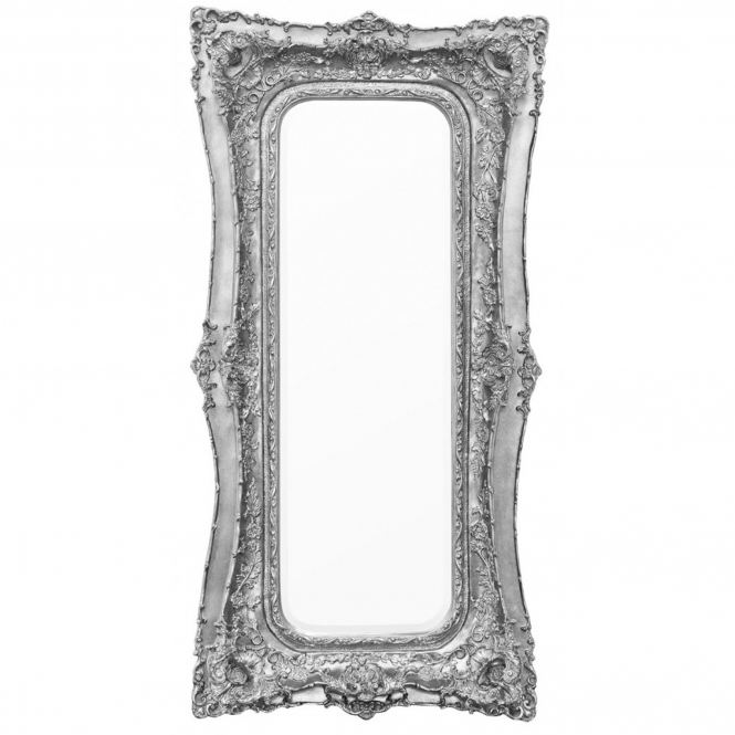 Rosetti Baroque Silver Gilt Leaf Bevelled Mirror