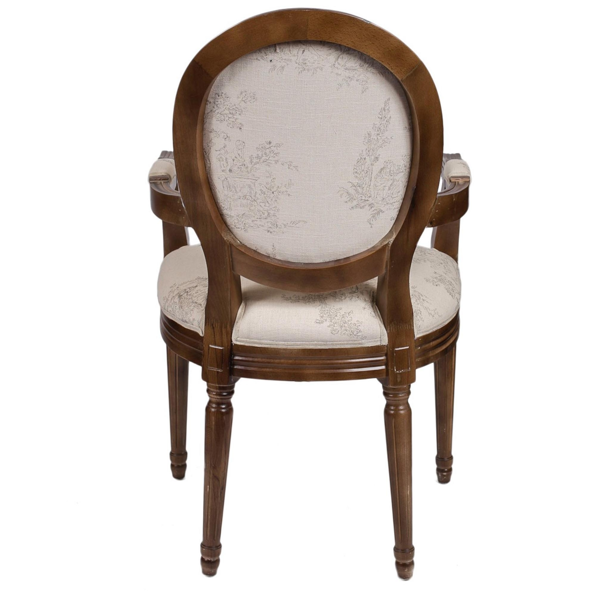 Round Back Antique French Style Armchair
