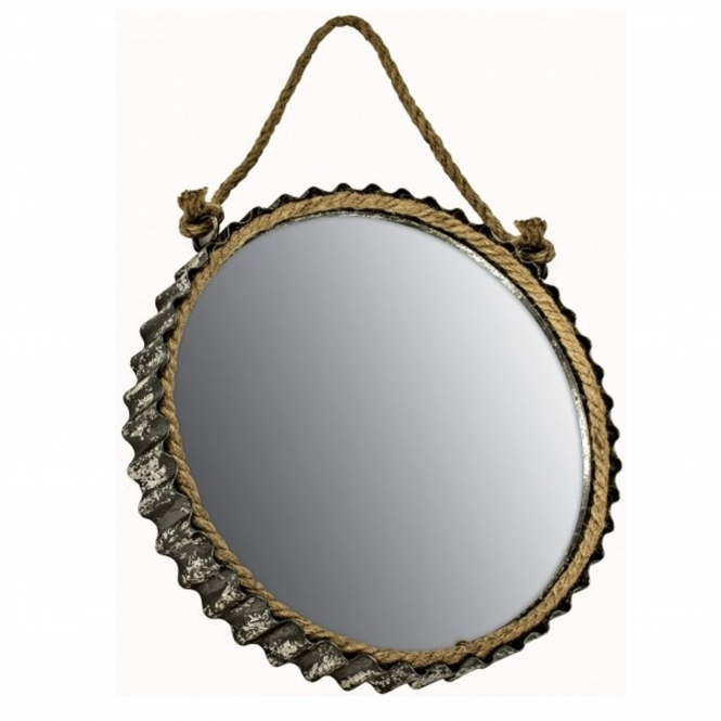 Round Hanging Wall Mirror
