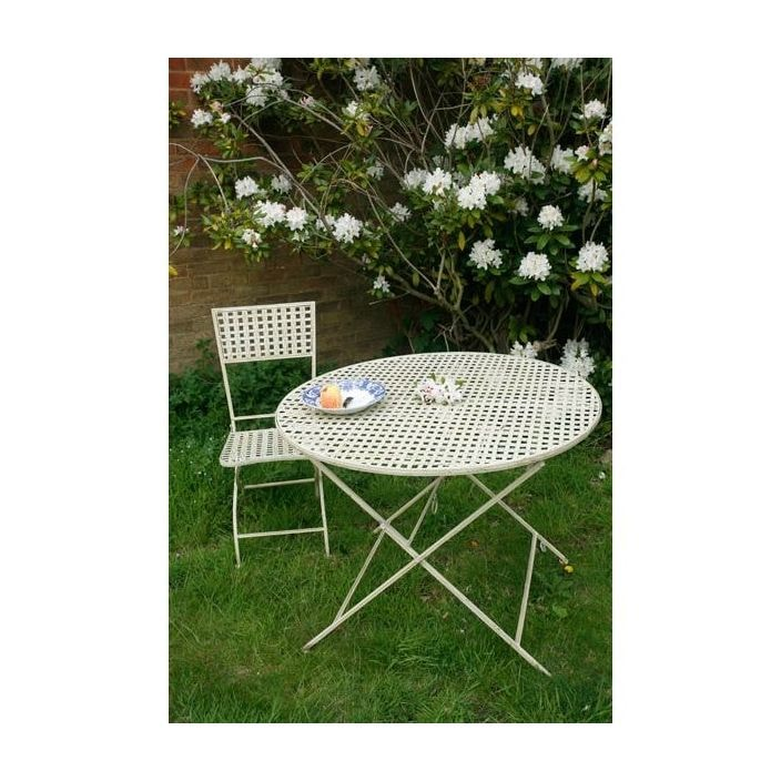 Round Metal Garden Table Bistro, Round Garden Tables Uk