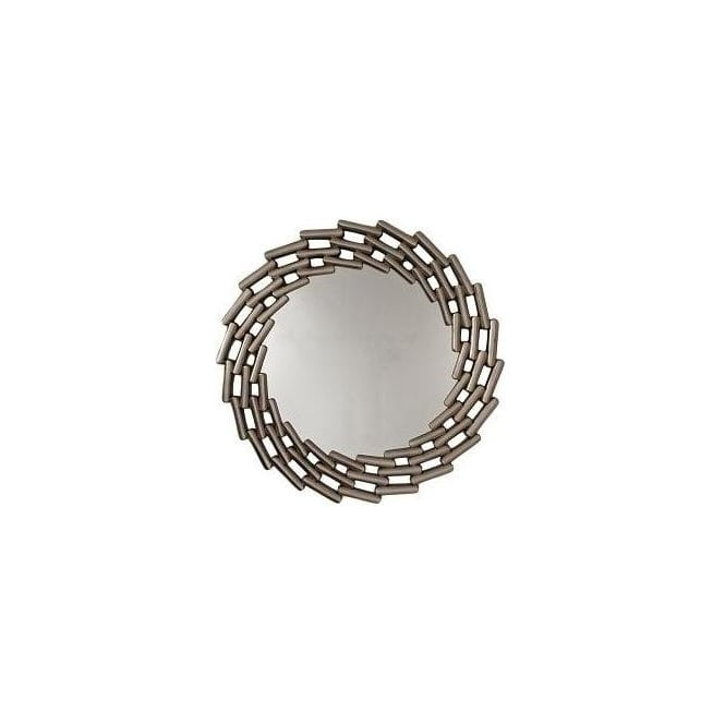 Round Mirror - Antique Silver Finish