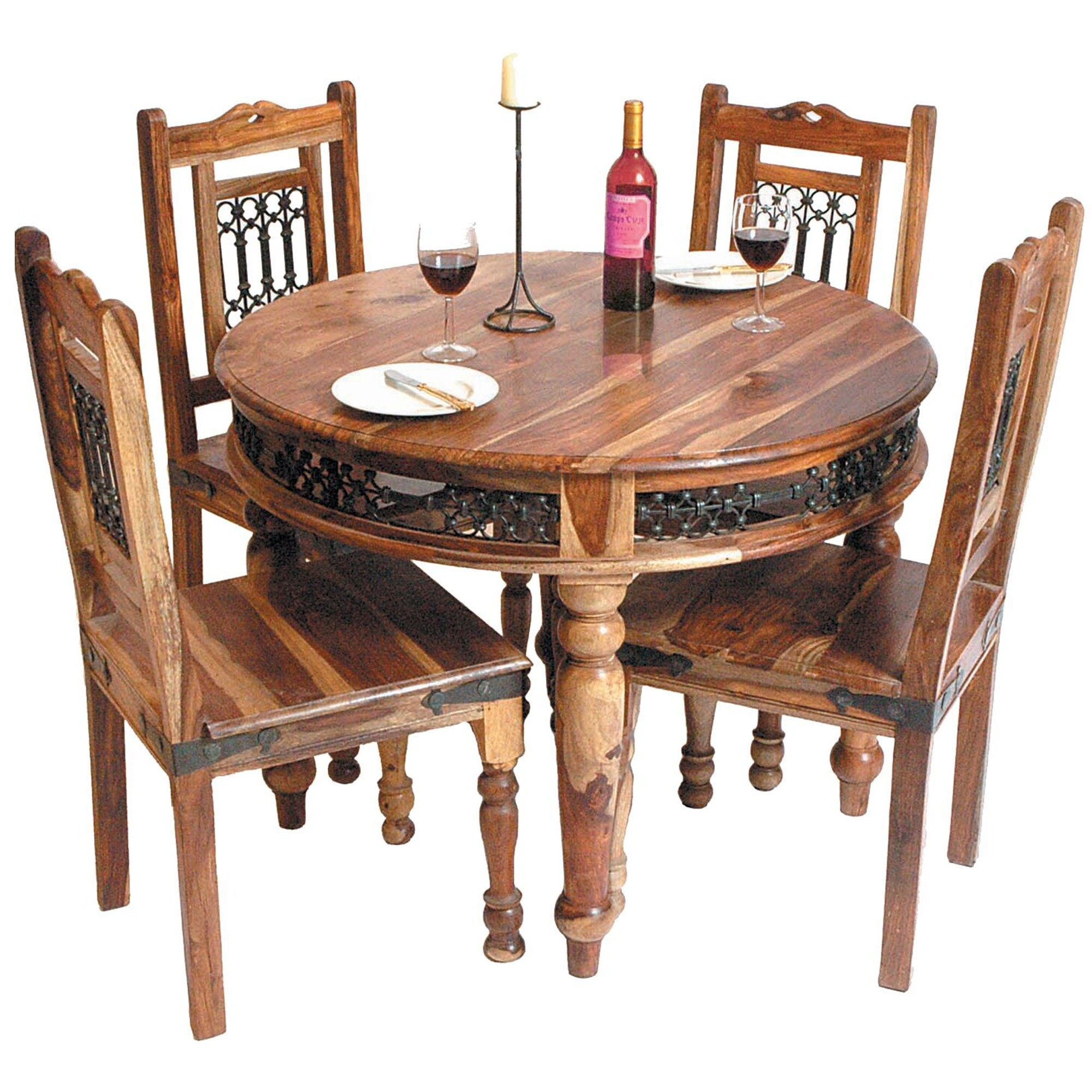Round Wooden Indian Dining Table Wooden Dining Tables