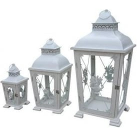 Rustic Antique French Style Lanterns (Set of 3)