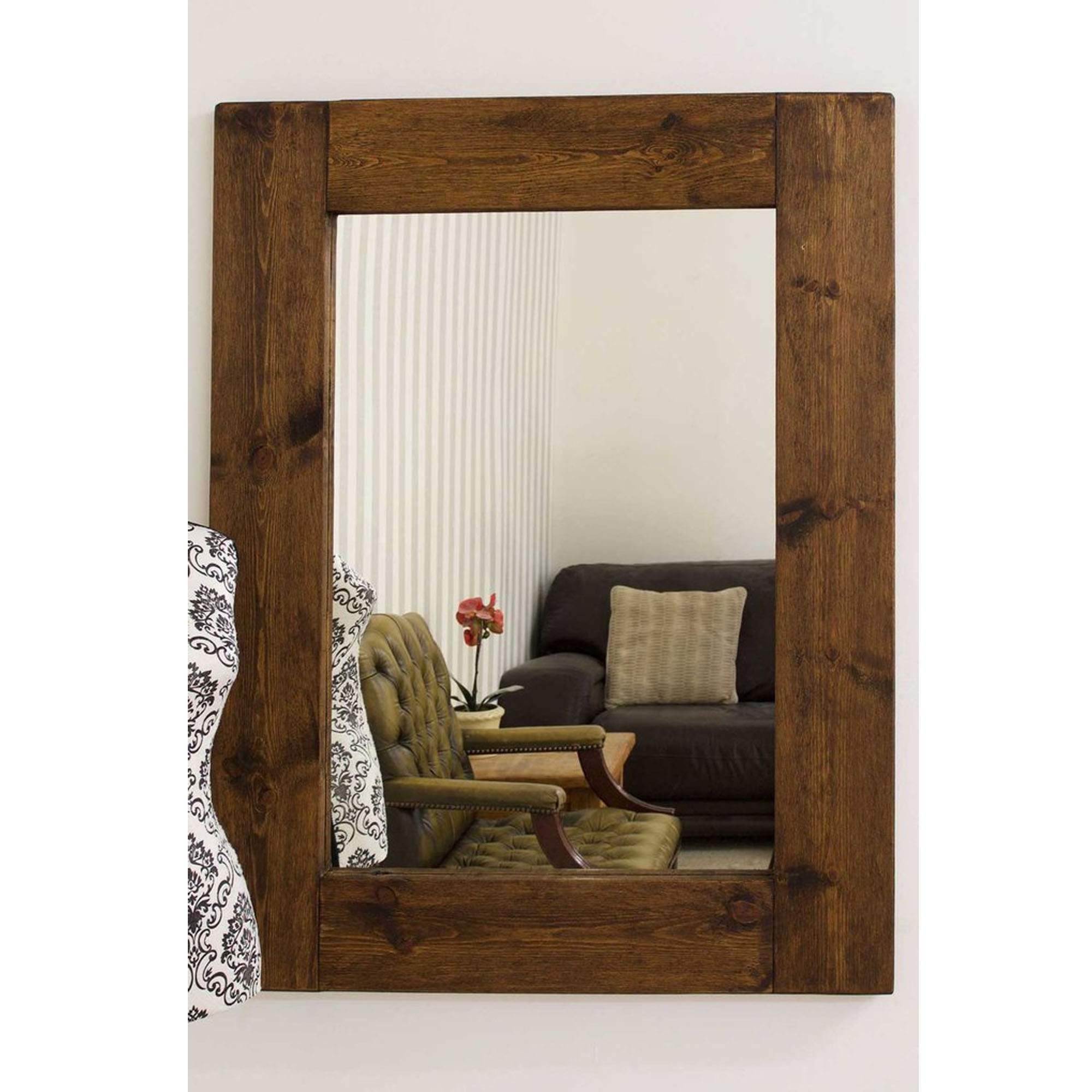 Rustic country house wall mirror