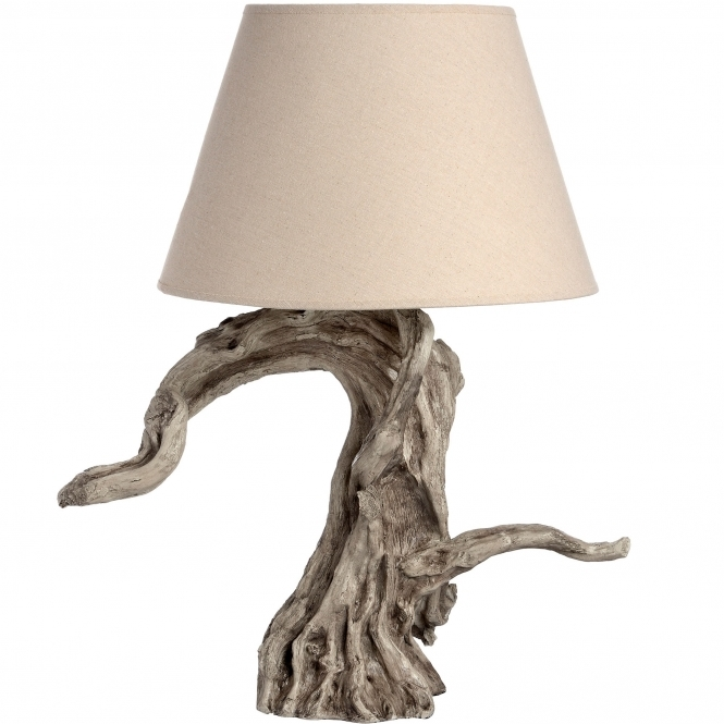 Rustic Driftwood Table Lamp