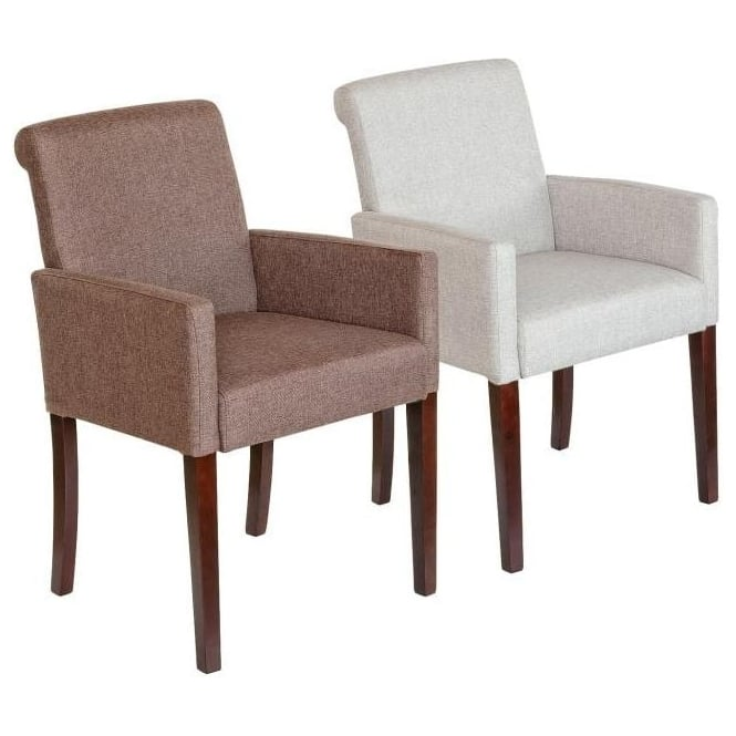 Sadie Modern Linen Tub Chair