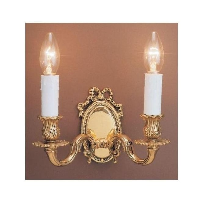 Sandringham Brass Antique French Style Wall Light