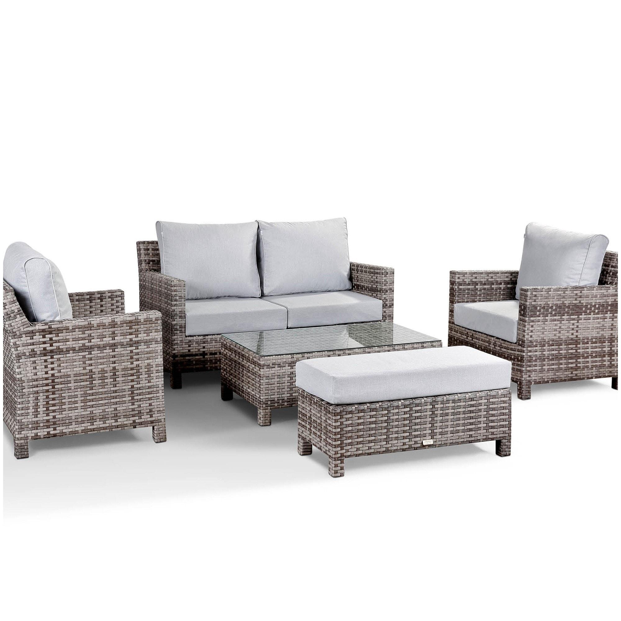 Santa Fe 10 Seat Grey Rattan Garden Set