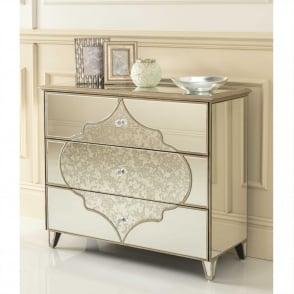 Sassari Mirrored Chest Of Drawers
