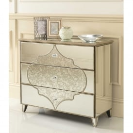 Sassari Mirrored Chest Of Drawers