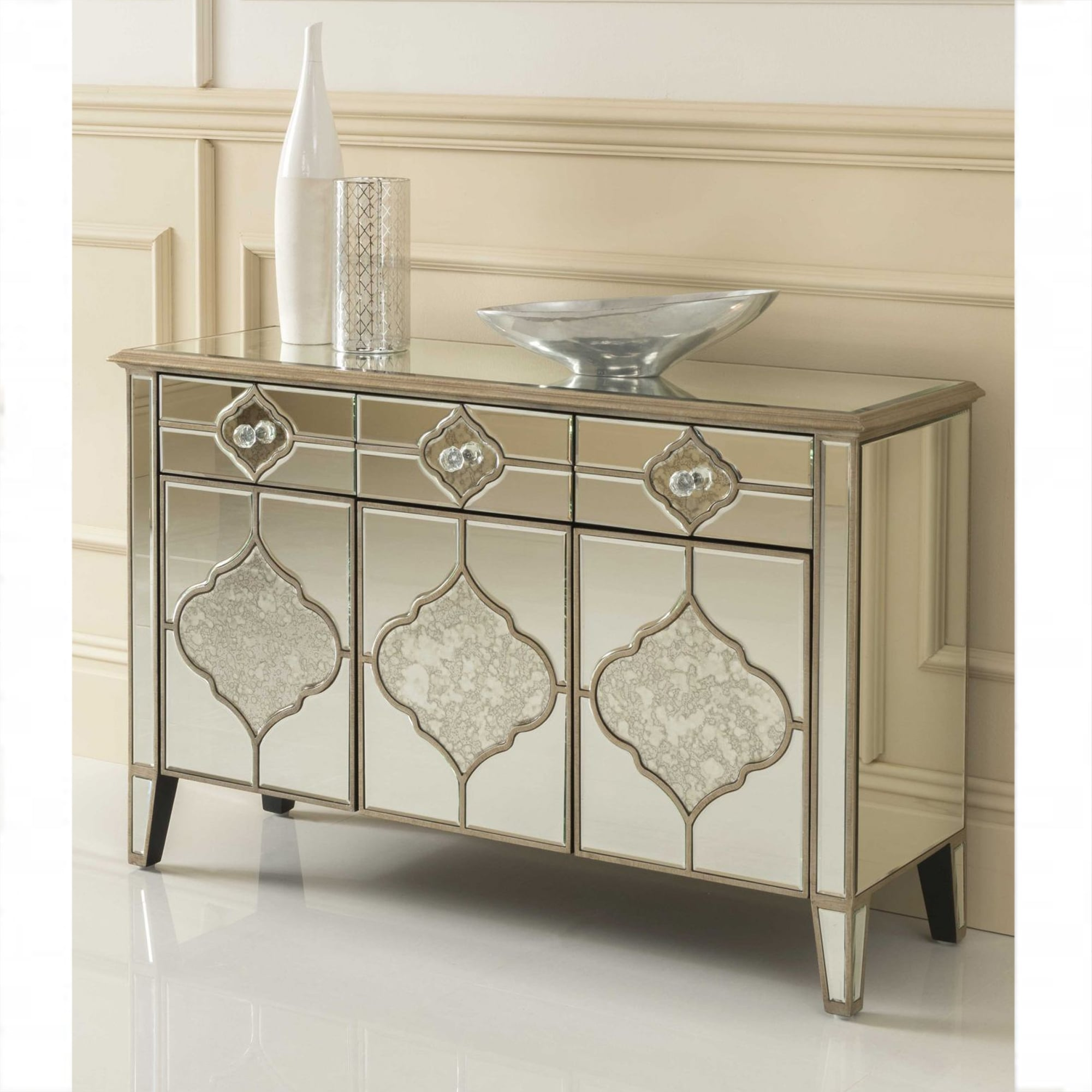 Sassari Mirrored Sideboard Venetian Glass Furniture