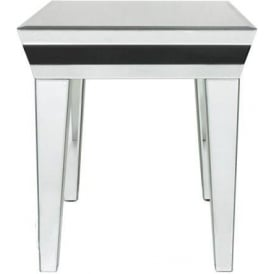 Savona Mirrored End Table