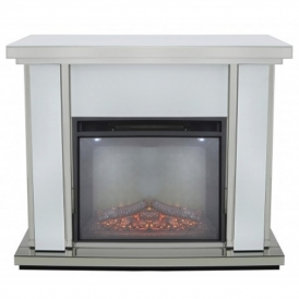 Savona White Fire Surround With Electric Fire