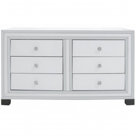 Savona White Mirrored Chest of Drawers