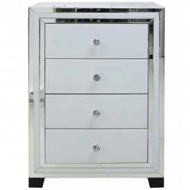 Savona White Mirrored Chest