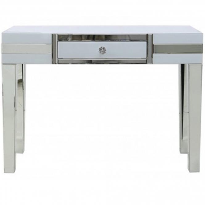 Savona White Mirrored Console Table