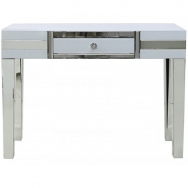 Savona White Mirrored Console Table