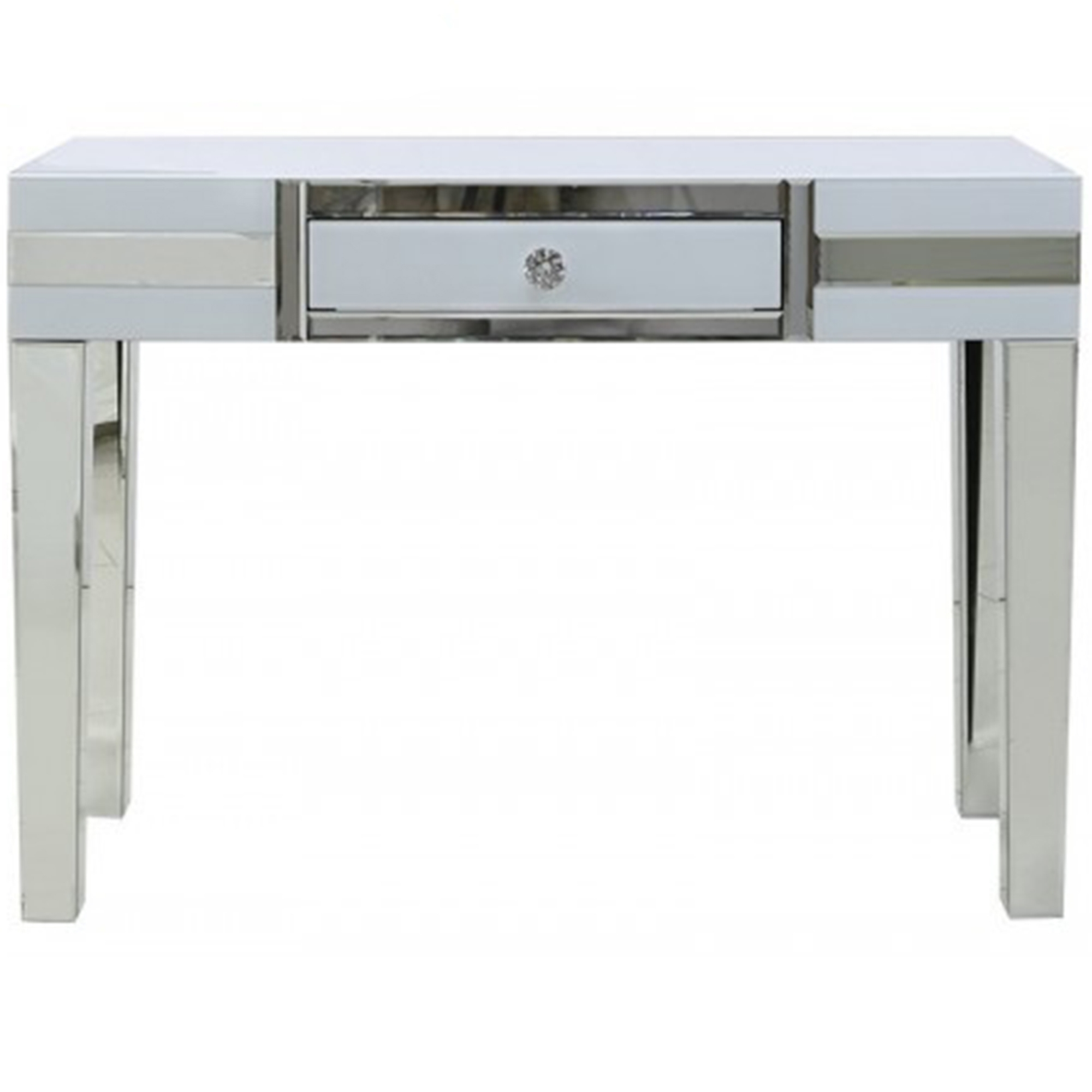 Savona white mirrored console table glass furniture online for White and glass console table