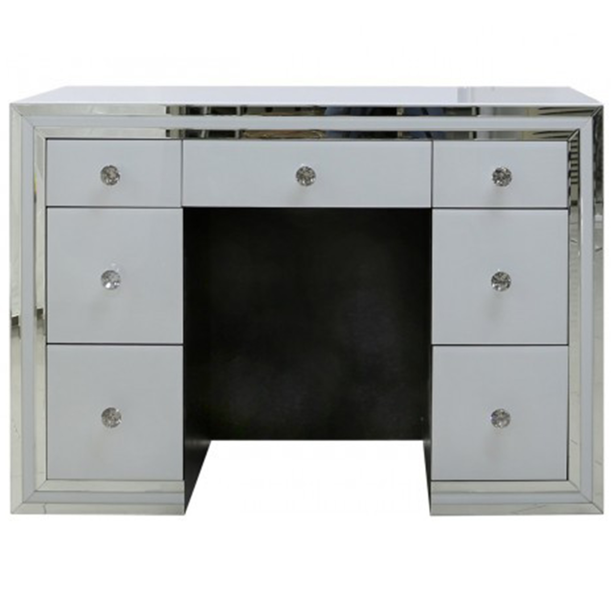 Glass dressing table - Savona White Mirrored Dressing Table