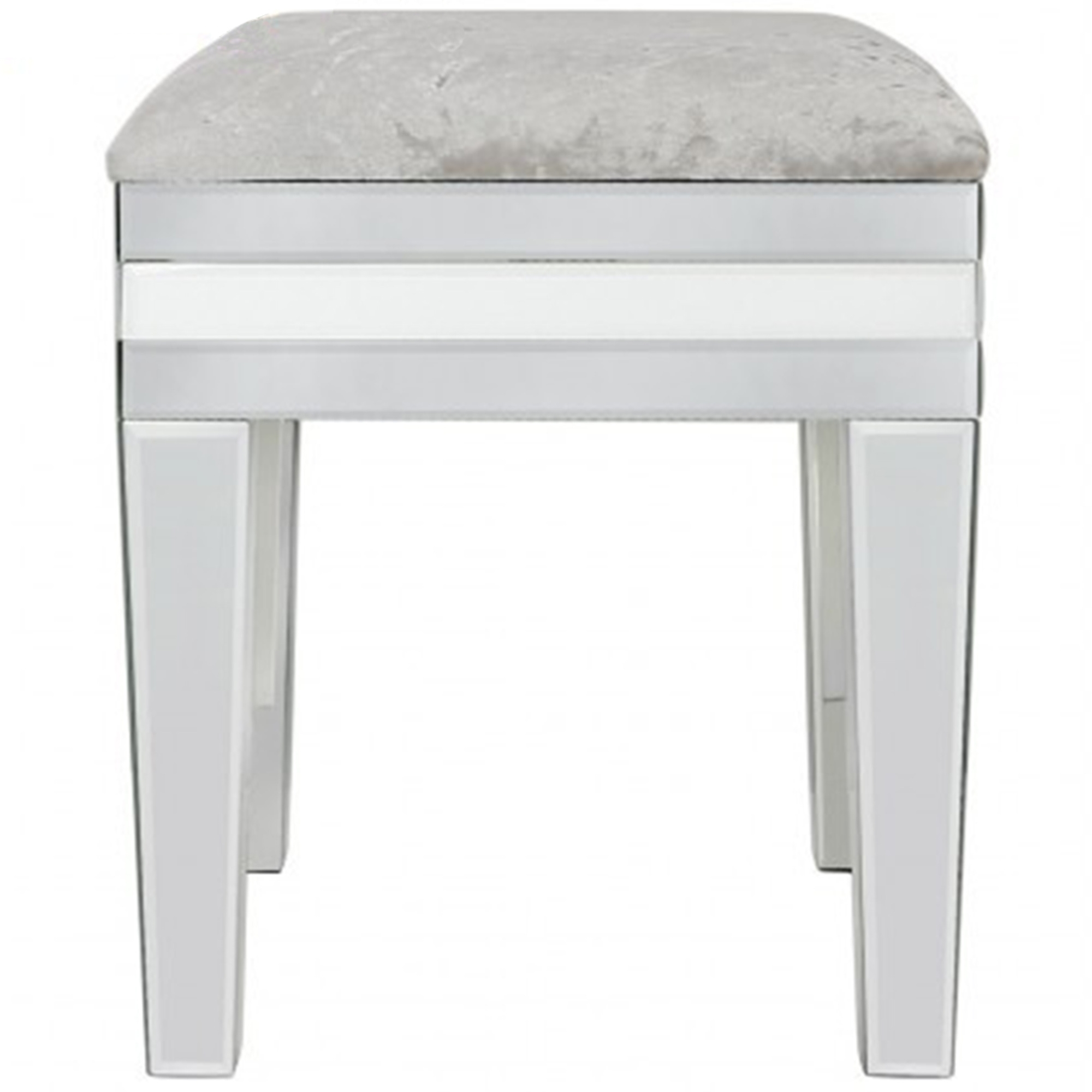 white and mirrored furniture. savona white mirrored stool and furniture e