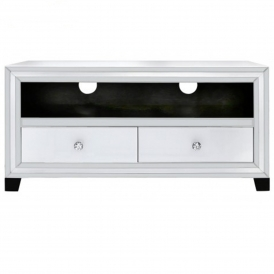 Savona White Mirrored TV Cabinet