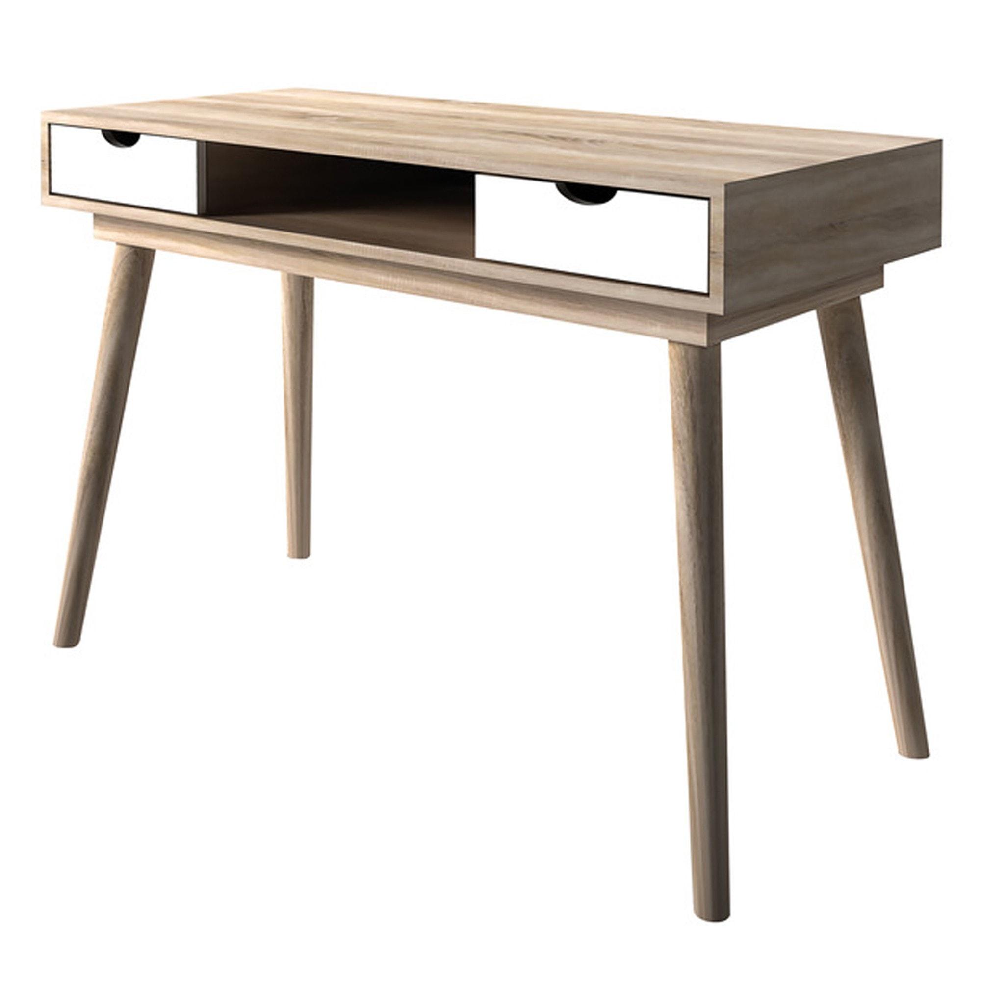 Scandi Wooden Desk Wooden Desk White Wooden Desk