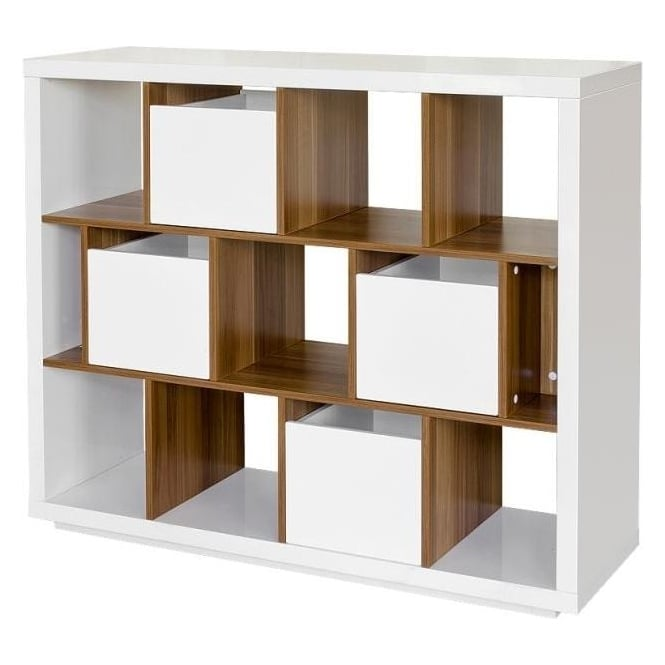 Sendai High Gloss Shelving Unit