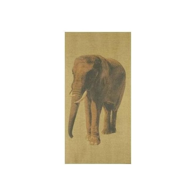 Serene Elephant Antique Canvas Print