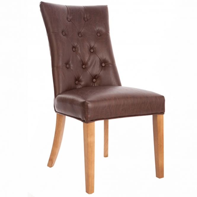 Set of 2 Brown Brooklyn Chairs