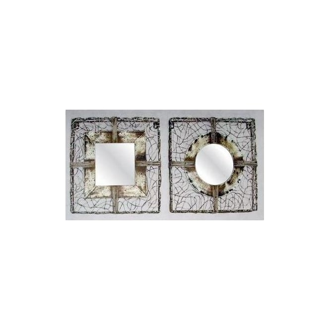 Set of 2 Wire Work Mirrors
