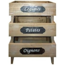 Set Of 3 Stacking Produce Trays