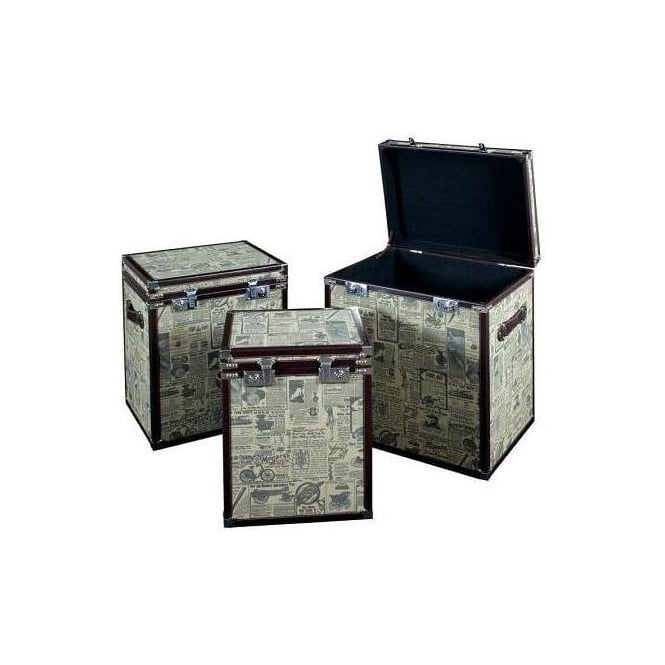 Set of 3 The Adverts Trunks