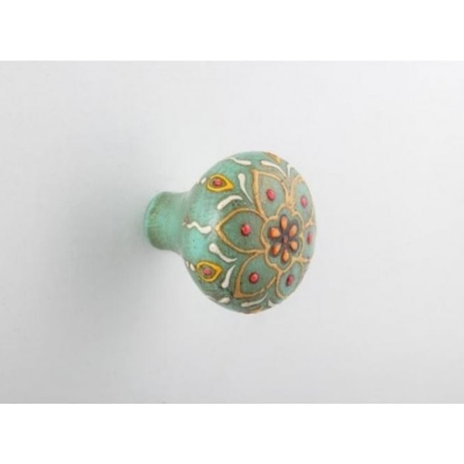 Set Of 4 Jade Painted Drawer Knob
