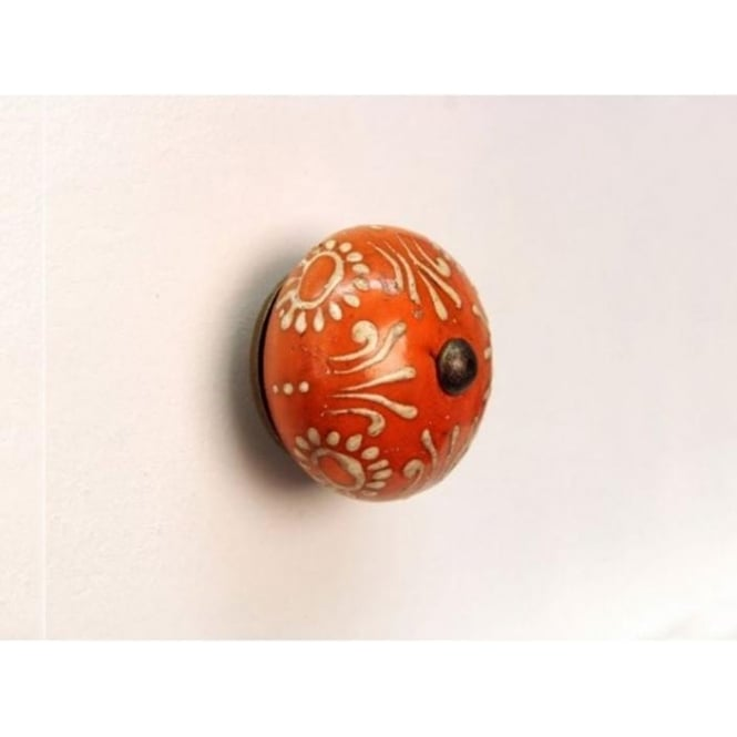 Set Of 4 Mustard Painted Design Drawer Knobs