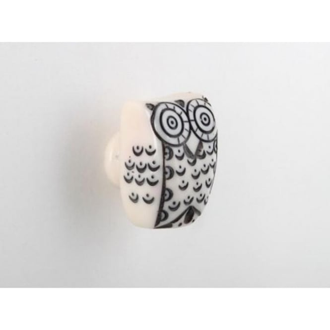 Set Of 4 Painted Owl Drawer Knobs