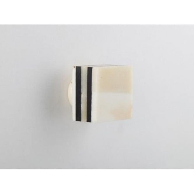 Set Of 4 Square Bone Drawer Knobs