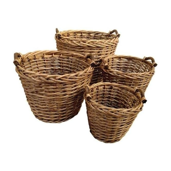 Set of 4 Willow Baskets