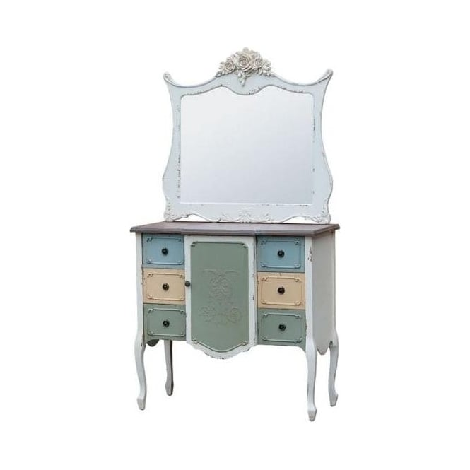 Shabby Chic Chest Of Drawers With Mirror