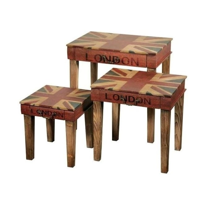 Shabby Chic Nesting Tables
