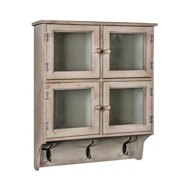 Shabby Chic Wall Unit With Hooks