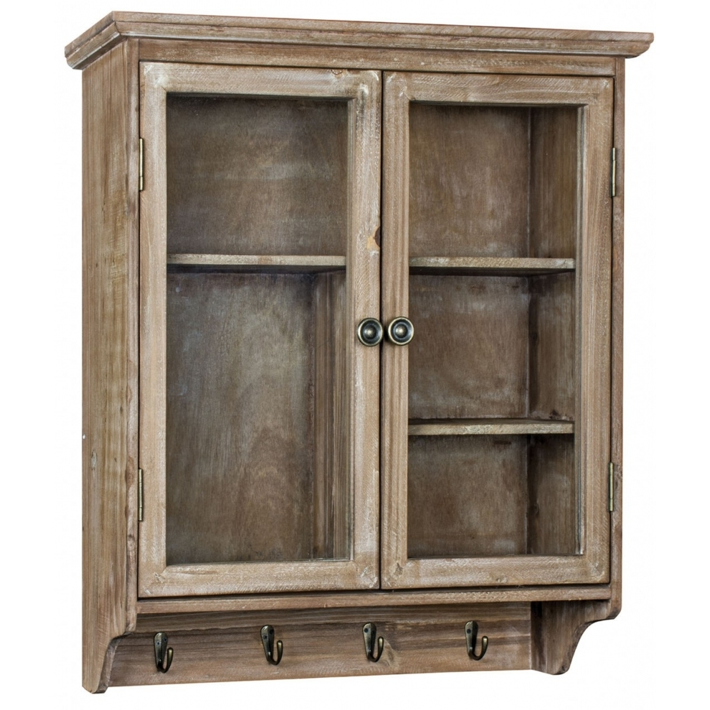 kitchen wall cabinets uk shabby chic wall unit with hooks distressed effect wall unit 22144