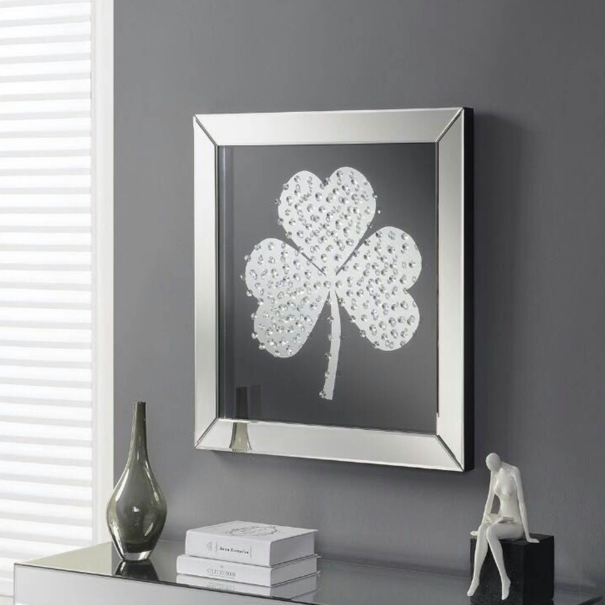 shamrock mirrored wall art wall art homesdirect365. Black Bedroom Furniture Sets. Home Design Ideas