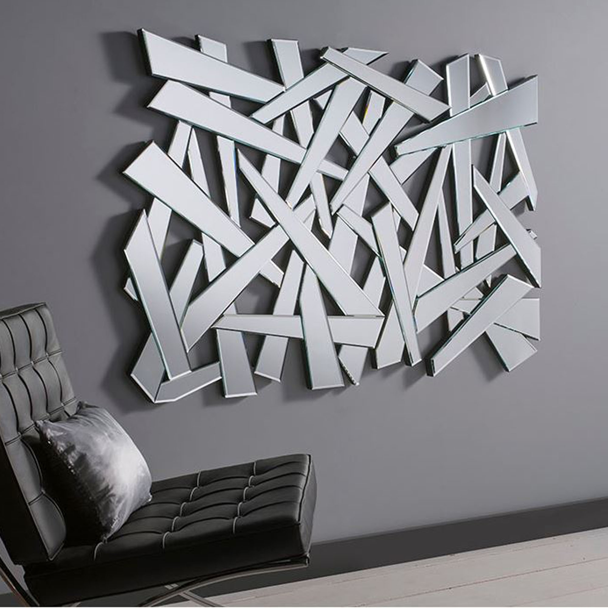 Shattered effect contemporary wall mirror homesdirect365