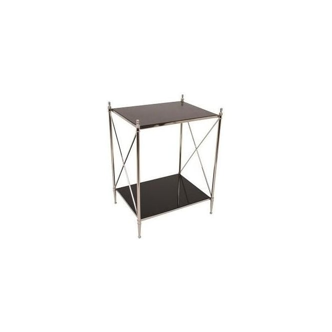 Side Table with Black Granite Top